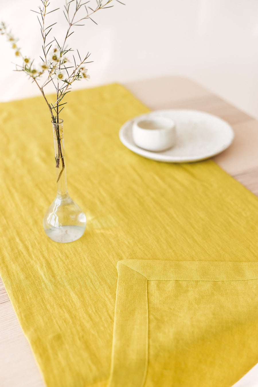 Chartreuse Yellow Table Runner
