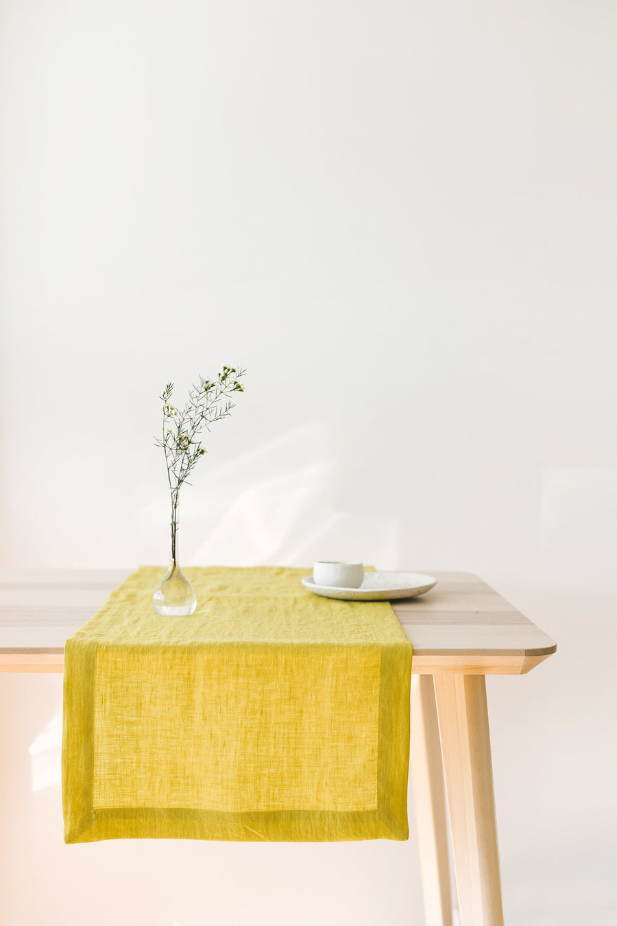 Natural Light Linen Table Runner