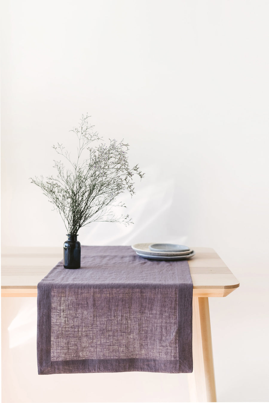 Grape Linen Table Runner