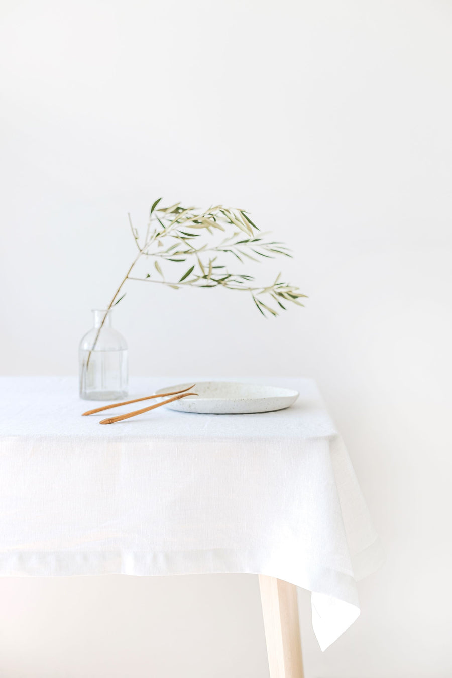 White Linen Tablecloth