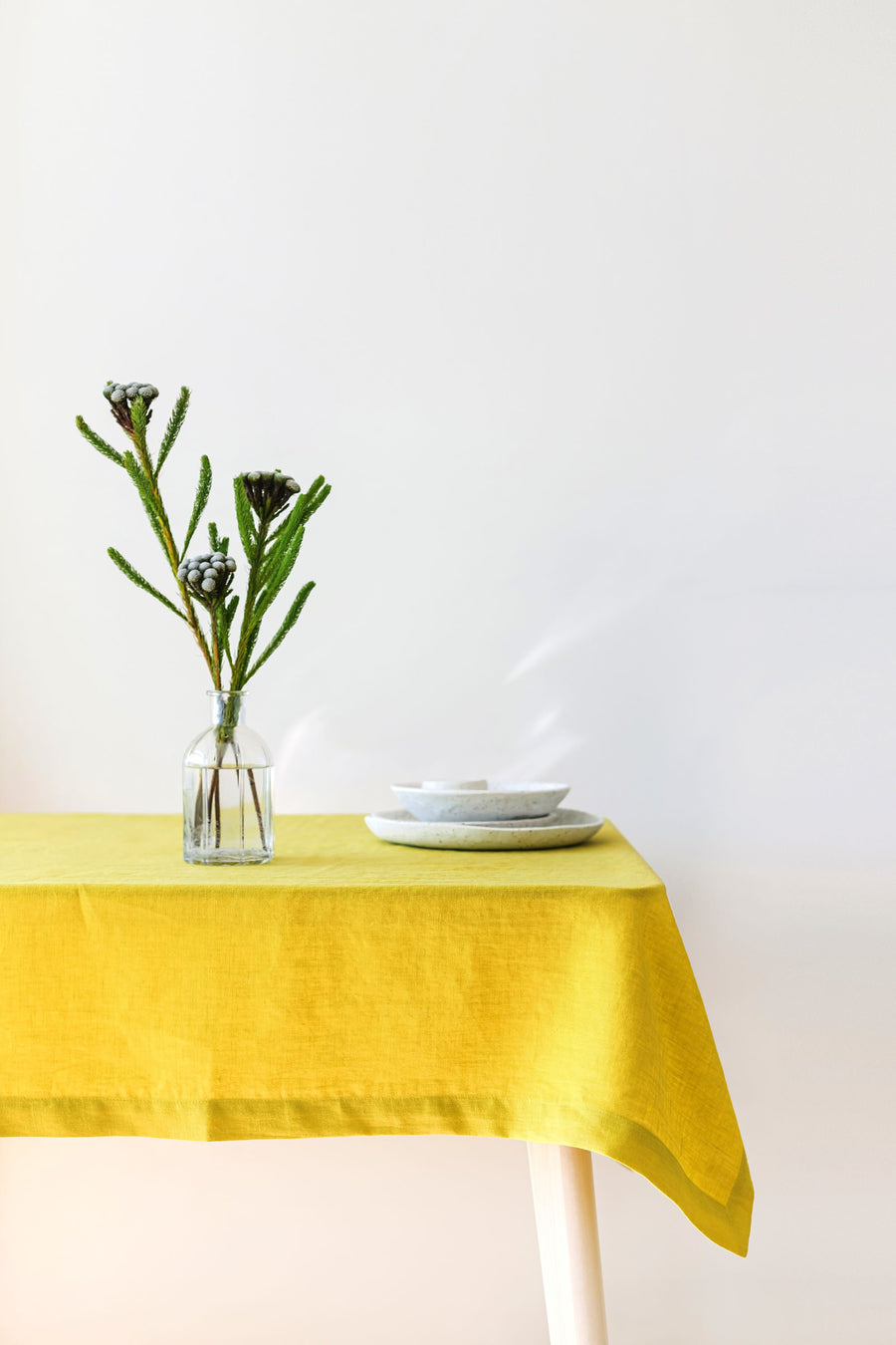 Chartreuse Linen Tablecloth