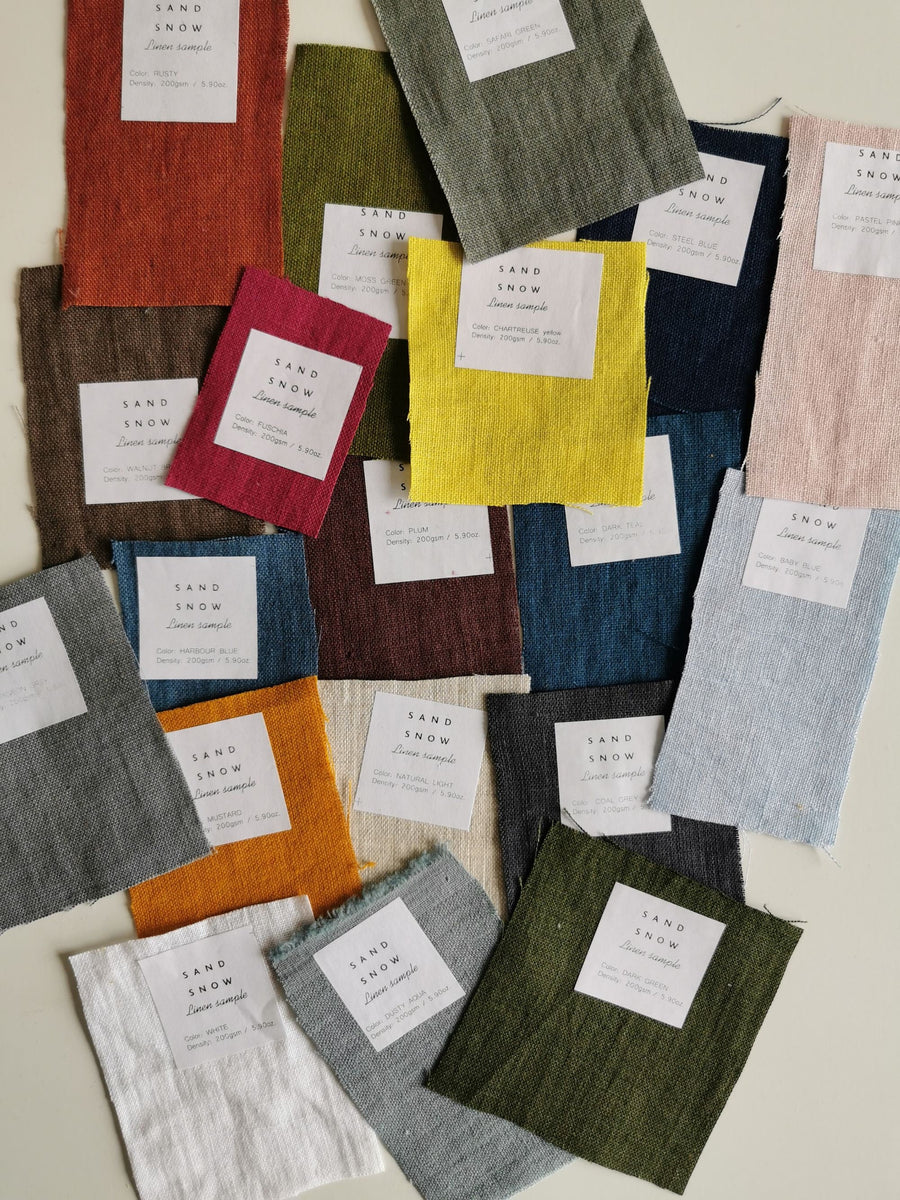 Extra Wide Linen Fabric Samples