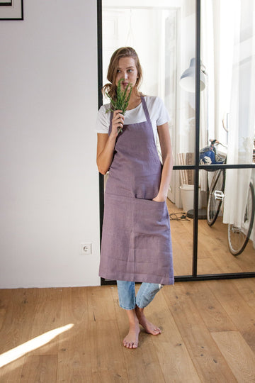 Grape Linen Apron