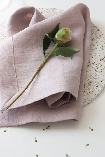 Pastel Pink Large Linen Napkins Set Of 2