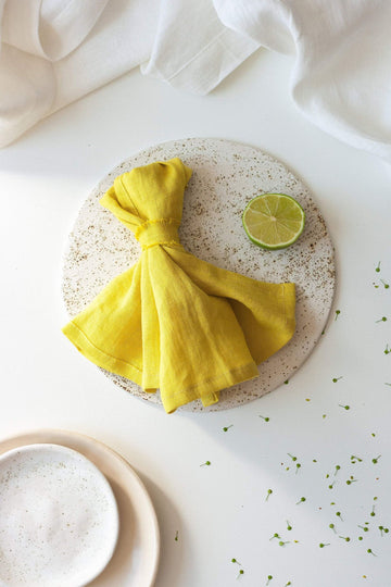 Chartreuse Yellow Linen Napkins Set Of 2