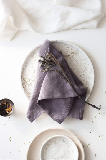 Grape Linen Napkins Set Of 2