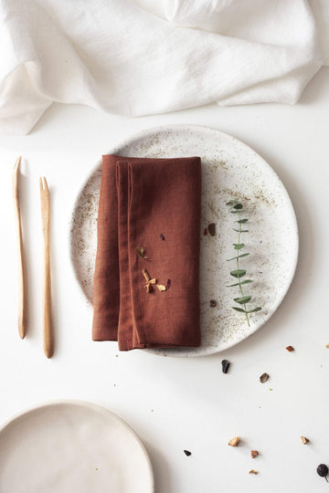 Rusty Linen Napkins Set Of 2