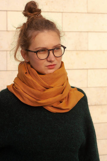 Amber Linen Scarf