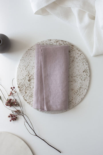 Pastel Pink Linen Napkins Set Of 2