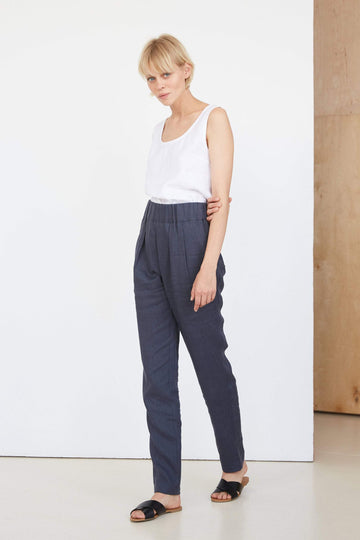 Coal Gray Linen Pants