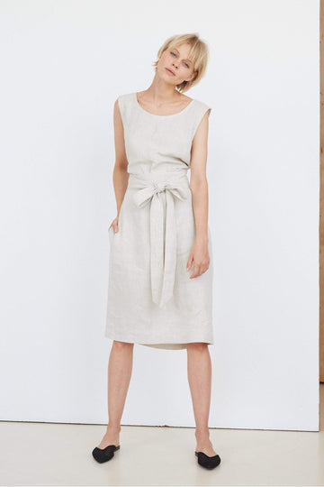 Natural Light Linen Dress