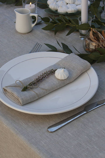 Natural Light Linen Napkins Set Of 2 Mitered Corners
