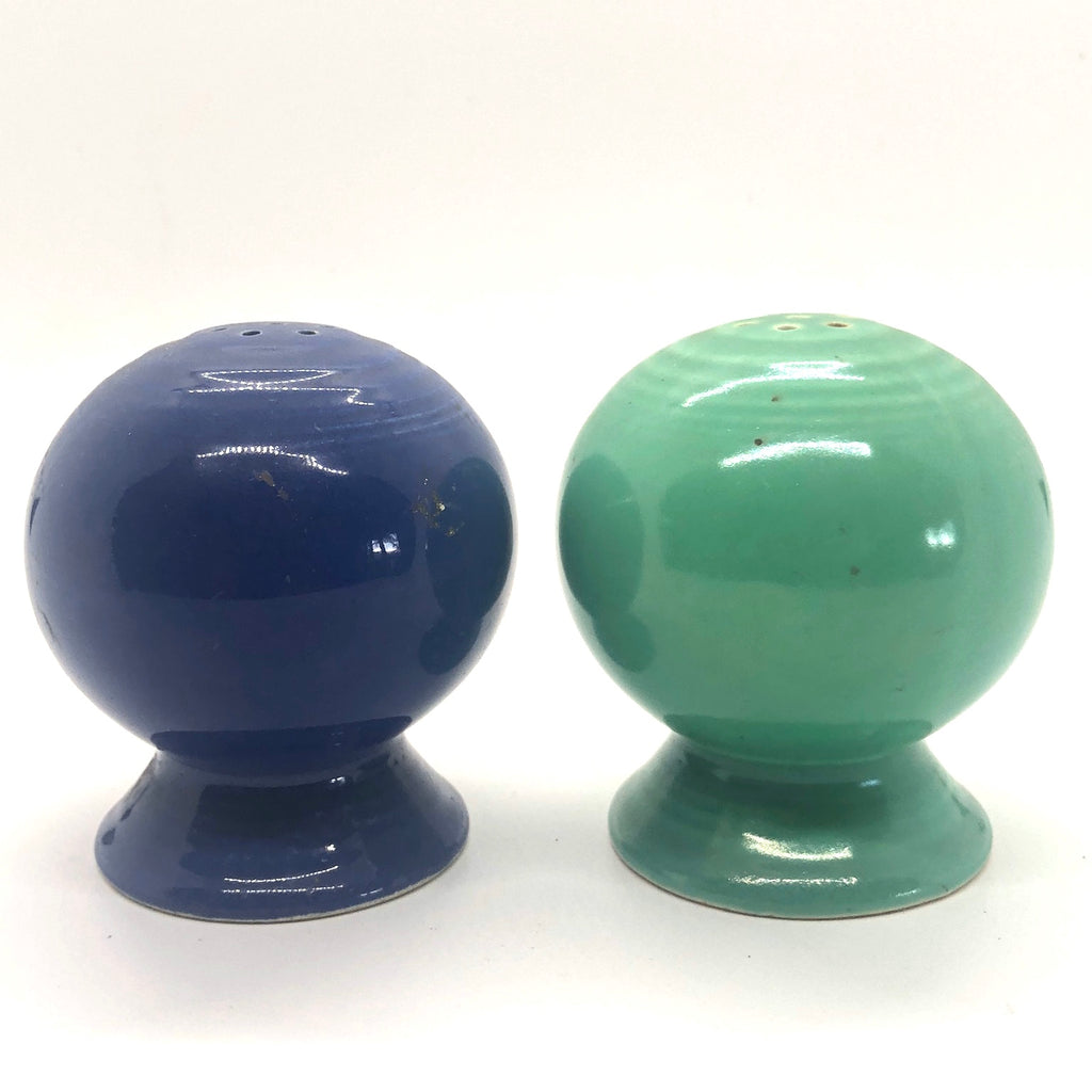Midcentury Modern Blue & Green Fiestaware Vintage Salt & Pepper Shakers