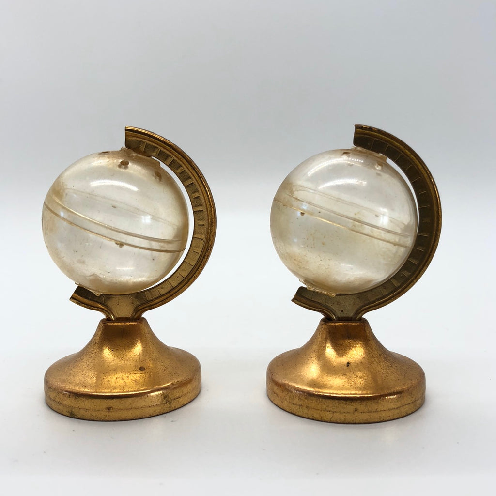 Globe Vintage Salt & Pepper Shakers