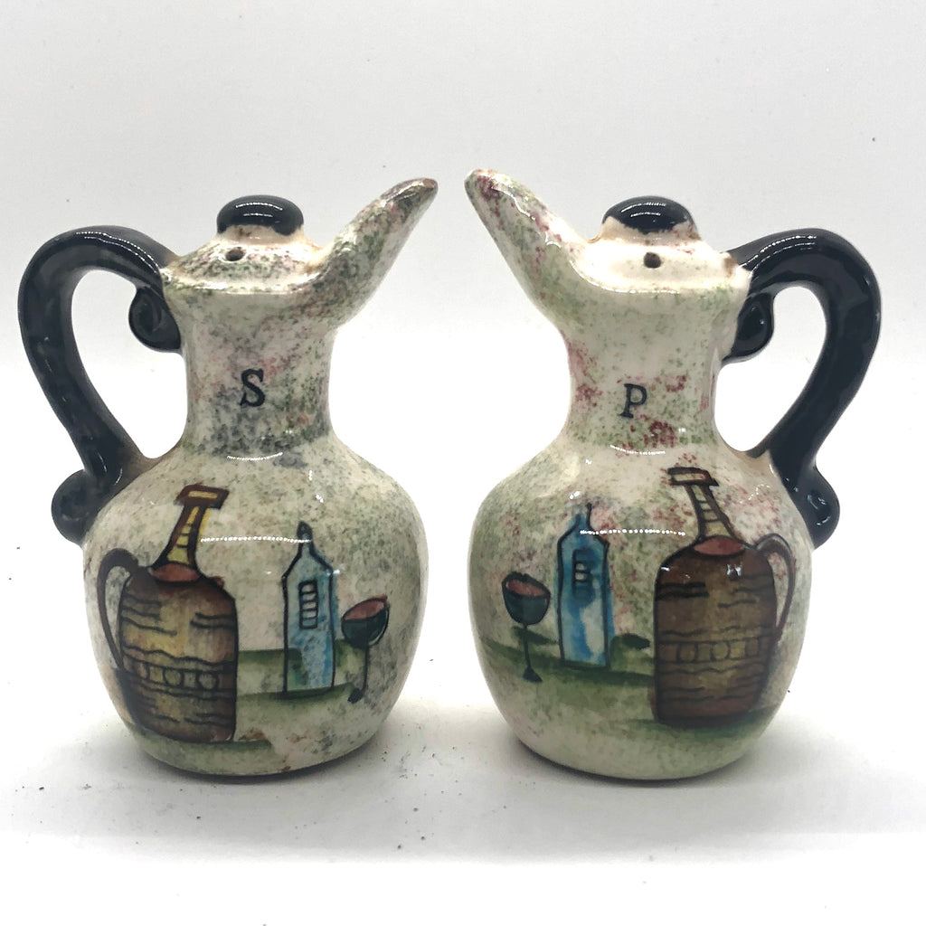 Italian Cruet Wine Jugs Vintage Salt & Pepper Shakers