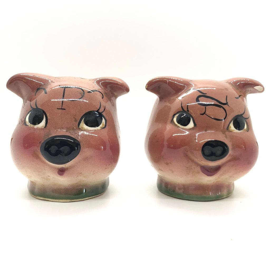 Piggie Head Vintage Salt & Pepper Shakers
