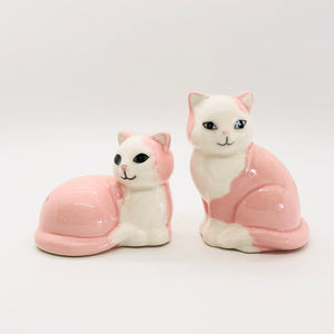 Pink Cats Vintage Salt and Pepper Shakers