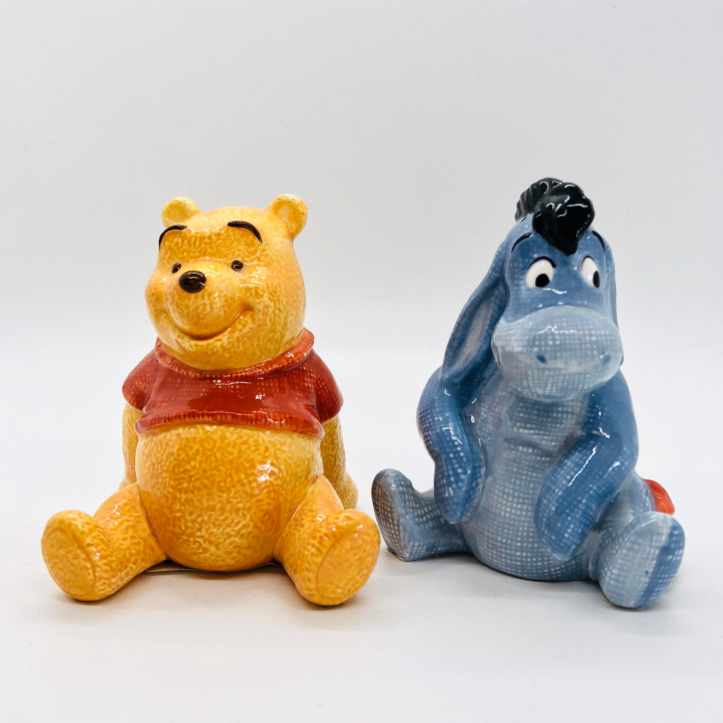 Pooh and Eeyore Vintage Salt and Pepper Shakers
