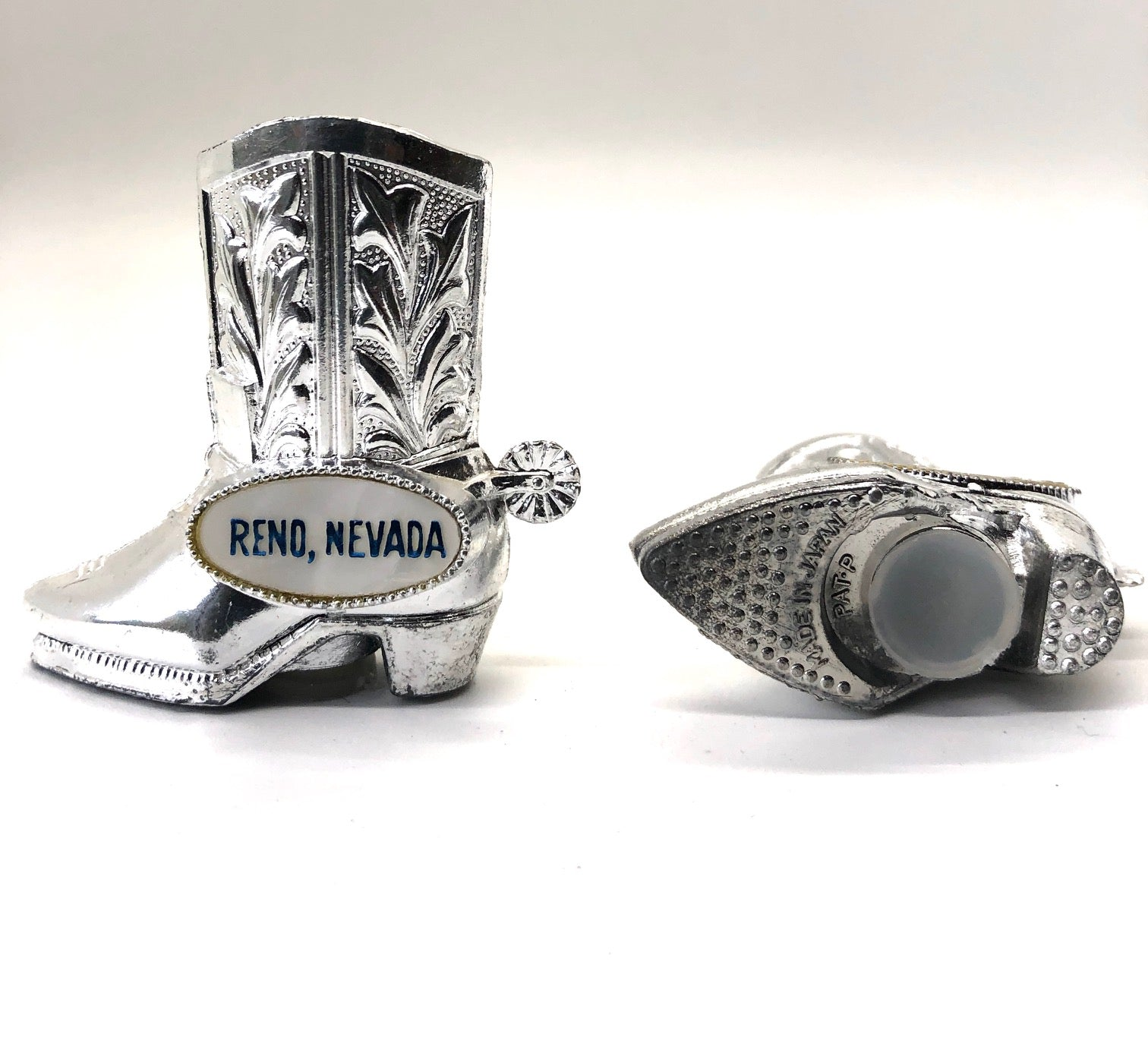 Metal Cowboy Boots  Vintage Salt and Pepper Shakers
