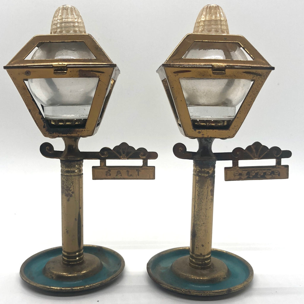 Brass Street Lamps Vintage Salt & Pepper Shakers