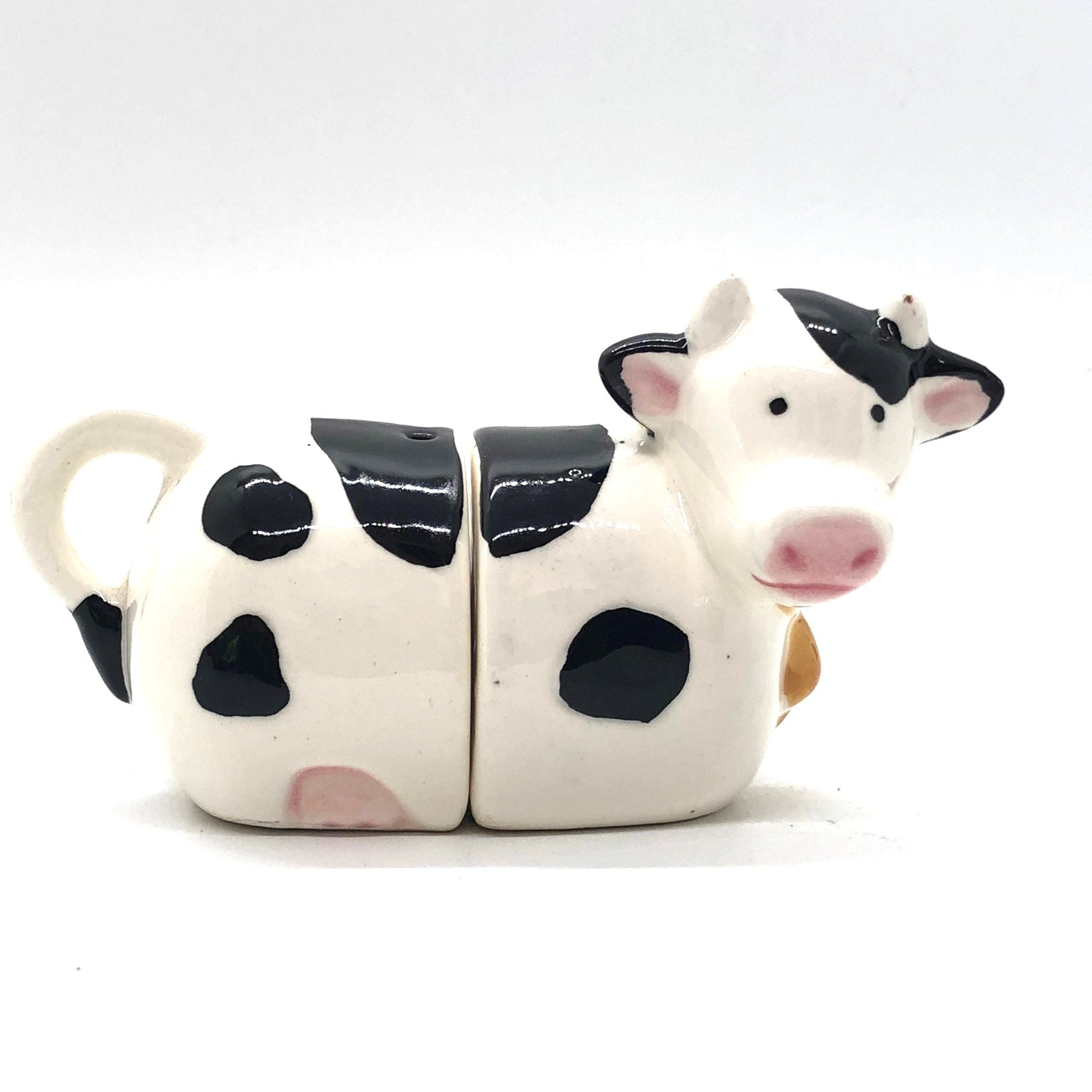 Black & White Cow Vintage Salt & Pepper Shakers