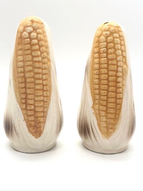 Yellow Gold Corn Husk Vintage Salt & Pepper Shakers
