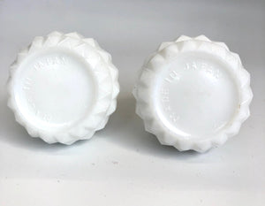 1960's Milk Glass Vintage Salt & Pepper Shakers