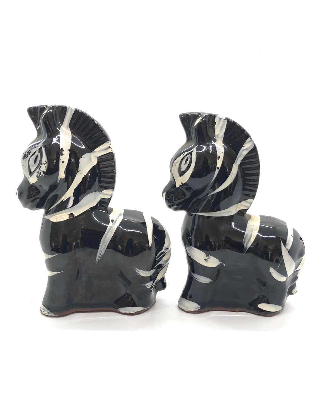 Black & White Zebra Vintage Salt & Pepper Shakers