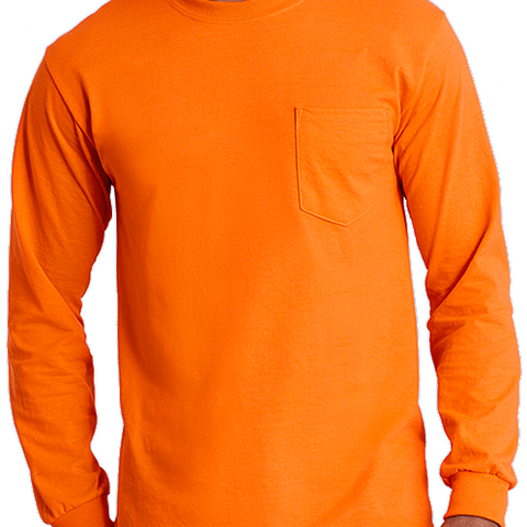 Budget Long Sleeve Pocket Tee