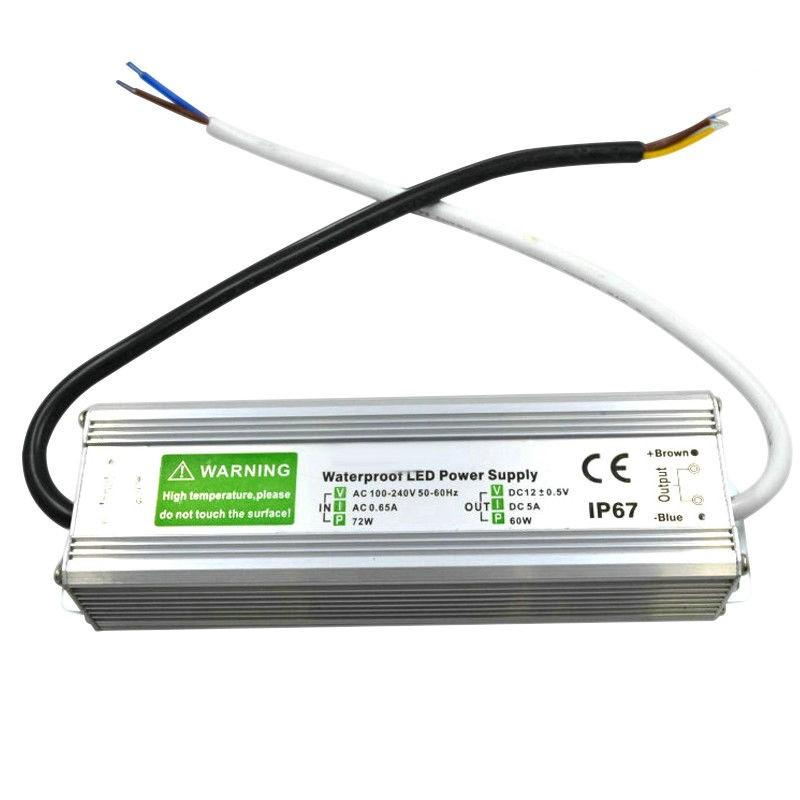 Led-muuntaja IP67 12-24V 10-150W
