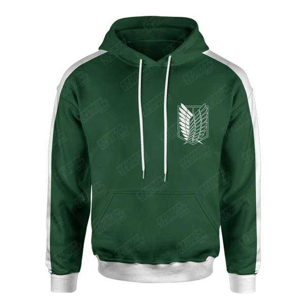 The 'Survey Corps' Hoodie (Green/White)