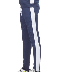 Track Pants (Navy/White)