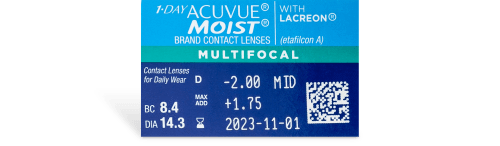 1-Day Acuvue Moist Multifocal Contact Lenses - 30 Pack prescription