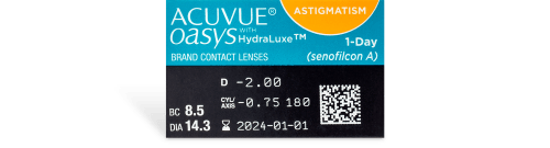 Acuvue Oasys 1 Day For Astigmatism Contact Lenses - 30 Pack Prescription