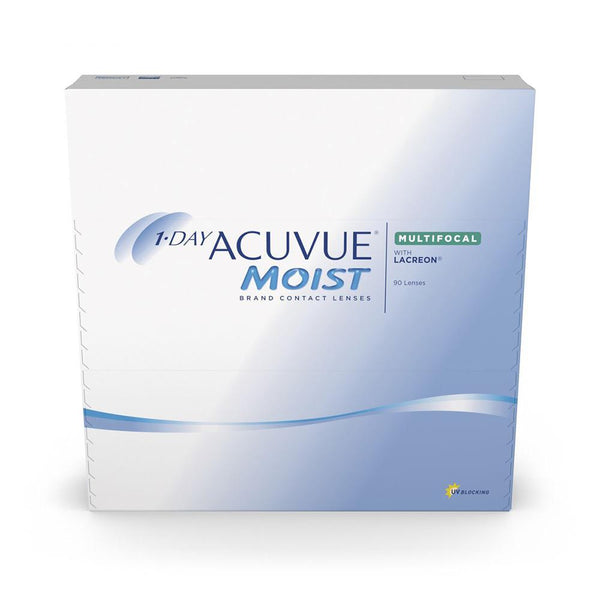 1-Day Acuvue Moist Multifocal Contact lenses box- 90 Pack