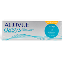 Load image into Gallery viewer, Acuvue Oasys 1 Day For Astigmatism Contact Lenses Box - 30 Pack