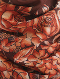 Rodier - Wool Floral Shawl 2154-1 Brown