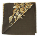 Rodier - Wool Floral Shawl 2154-2 Green
