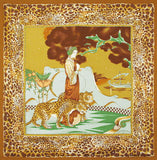 Belle Epoque Silk Scarf - Leopards Prowl