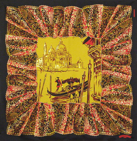 Belle Epoque Silk Scarf - Venetian Grand Canal