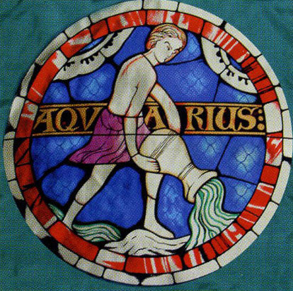 100% Silk Lausanne Cathedral Stained Glass Scarf - Aquarius