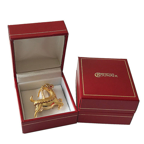 Gold or Silver Plated Zodiac Brooch - Capricorn