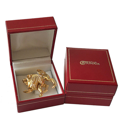 Gold or Silver Plated Zodiac Brooch - Leo