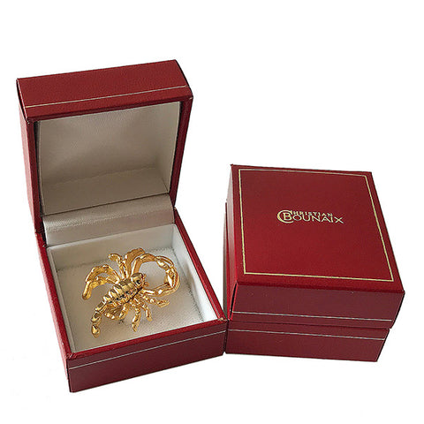 Gold or Silver Plated Zodiac Brooch - Scorpio