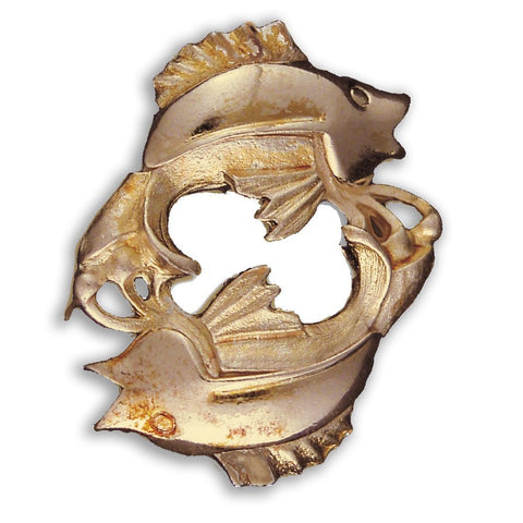 Gold or Silver Plated Zodiac Brooch - Pisces