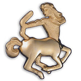 Gold or Silver Plated Zodiac Brooch - Sagittarius