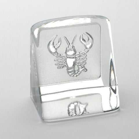 Swedish Crystal Zodiac Paperweight - Cancer