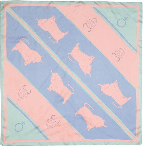 EXCLUSIVE - Custom Silk Scarves of the Zodiac, Taurus