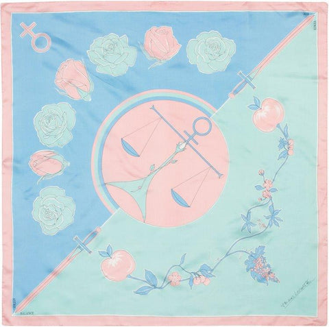 EXCLUSIVE - Custom Silk Scarves of the Zodiac, Libra