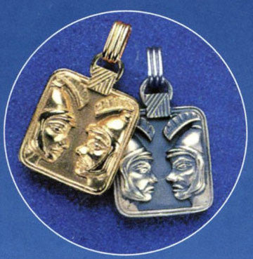 Gold or Silver Plated Zodiac Pendant - Gemini